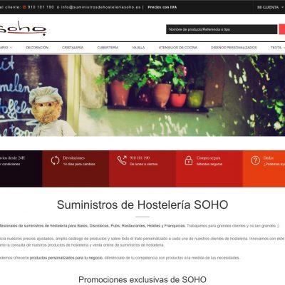 SOHO suministros de hostelería - Tienda online con PrestaShop